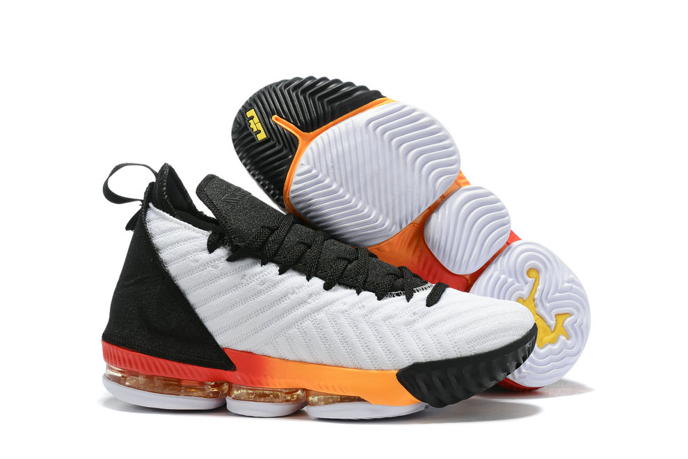 Wholesale Cheap 2019 Cheap Nike LeBron 16 White Laser Orange AQ2465-188