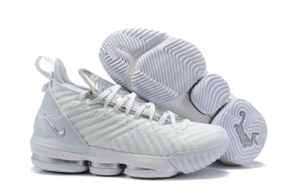 Wholesale Cheap 2019 Cheap Nike Lebron 16 Im King Metallic Silver White