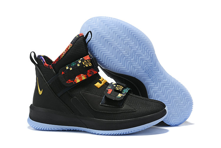Wholesale Cheap 2019 Cheap Nike Lebron James Soldier 13 All-Star Black Multi-Color