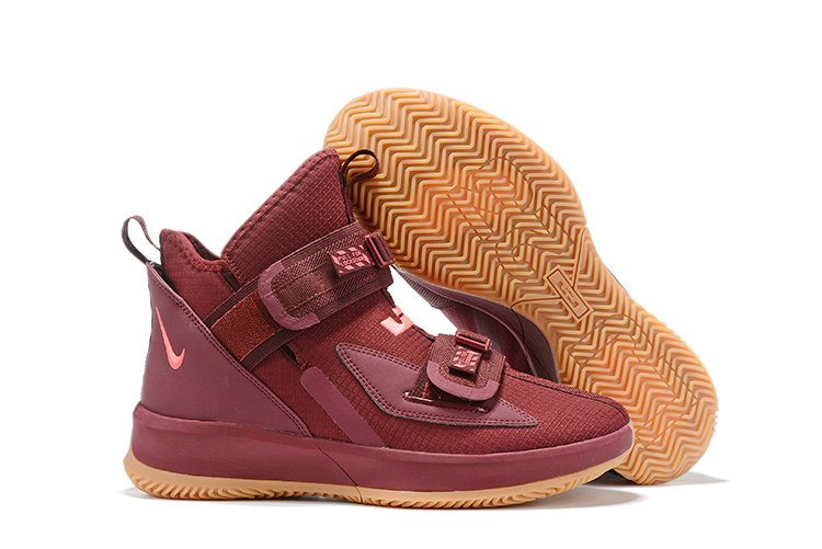 Wholesale Cheap 2019 Cheap Nike Lebron Soldier 13 Team Red Wheat