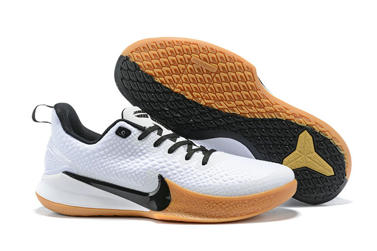 Wholesale Cheap 2019 Cheap Nike Mamba Focus Basketball Shoes in White Black Gum Light