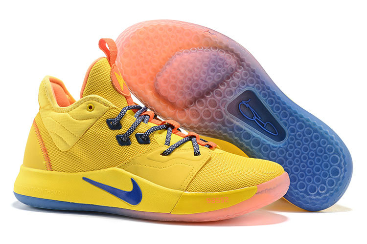 Wholesale Cheap 2019 Cheap Nike PG 3 All Star Yellow Blue Orange