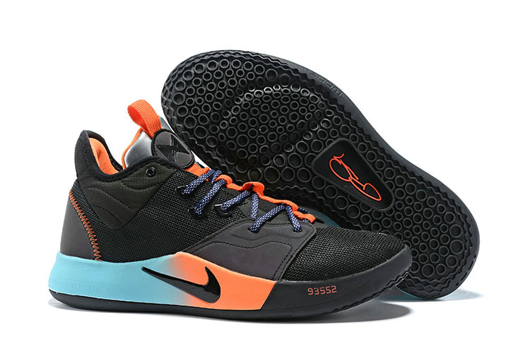 Wholesale Cheap 2019 Cheap Nike PG 3 Black Blue Orange Silver Multi-Color Basketball Shoes