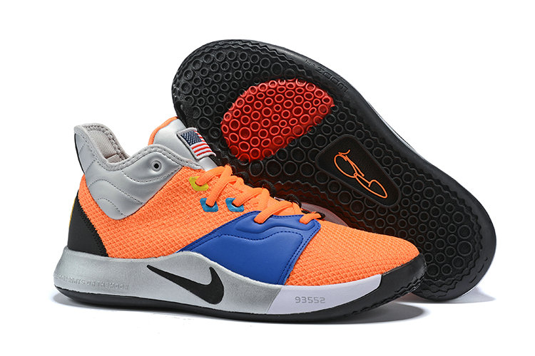 Wholesale Cheap 2019 Cheap Nike PG 3 CI2666 800 Total Orange Black-Metallic Silver