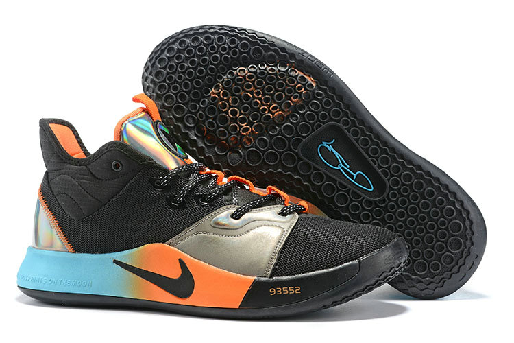 Wholesale Cheap 2019 Cheap Nike PG 3 Iridescent Blue Orange