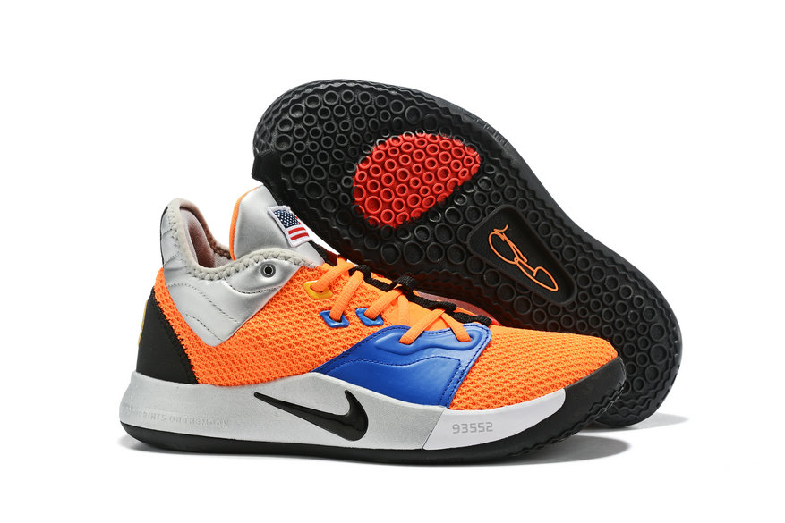 Wholesale Cheap 2019 Cheap Nike PG 3 NASA CI2666 800 Total Orange Black-Metallic Silver