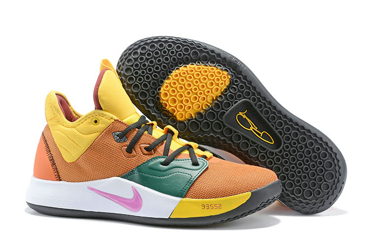Wholesale Cheap 2019 Cheap Nike PG 3 NASA Yellow Pink Green White