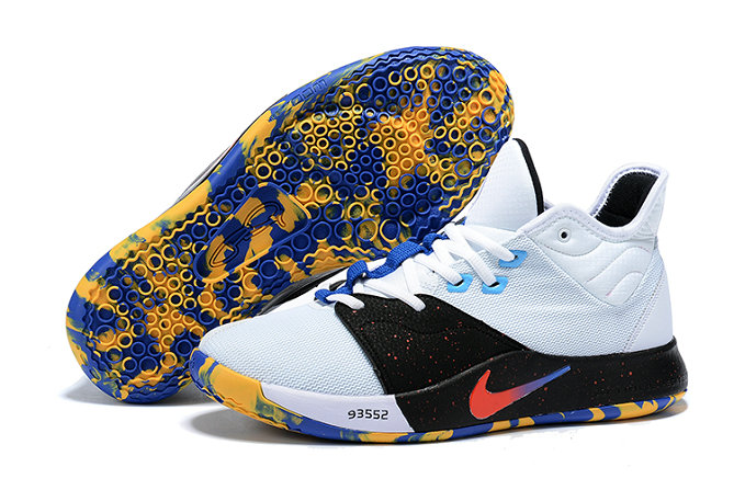 Wholesale Cheap 2019 Cheap Nike PG 3 NCAA White Blue Multi-Color