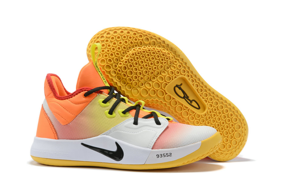 Wholesale Cheap 2019 Cheap Nike PG 3 Orange Volt-Black-White