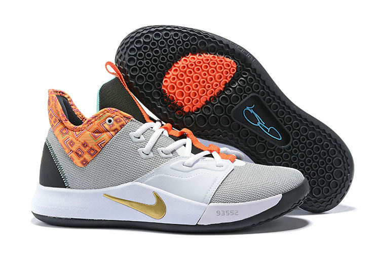 Wholesale Cheap 2019 Cheap Nike PG 3 Pure Platinum Metallic Gold BQ6242-007