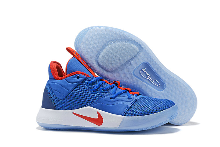 Wholesale Cheap 2019 Cheap Nike PG 3 Racer Blue Red White