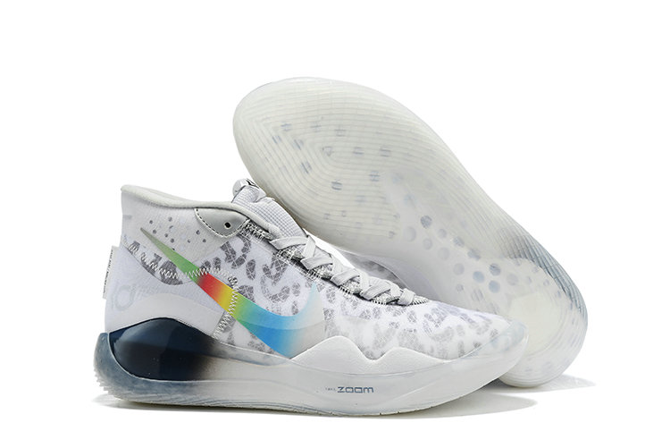 Wholesale Cheap 2019 Cheap Nike Zoom Kevin Durant 12 White Grey Colorful