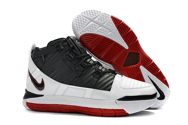Wholesale Cheap 2019 Cheap Nike Zoom Lebron 3 Qs Home White-Black-Varsity Red A02434-101