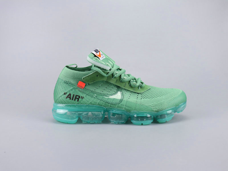 Wholesale Cheap 2019 Nikes Air VaporMaxs x Off-White Aqua Green Grass Green