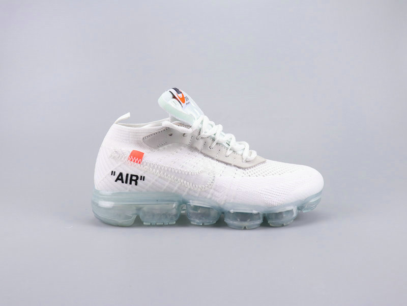 Wholesale Cheap 2019 Nikes Air VaporMaxs x Off-White White Total Crimson-Black AA3831-100