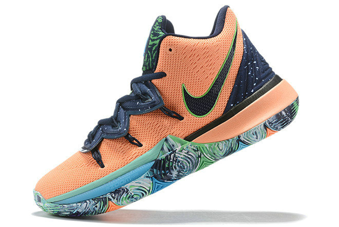 Where To Buy 2019 Nike Kyrie 5 Extraterrestrial Being Navy Blue Orange For Sale