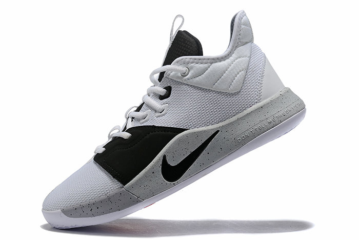 Where To Buy 2019 Nike PG 3 Moon White Black-Grey AO2607-101 For Sale