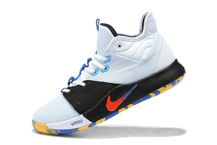 Where To Buy 2019 Nike PG 3 White Black Multi-Color For Sale
