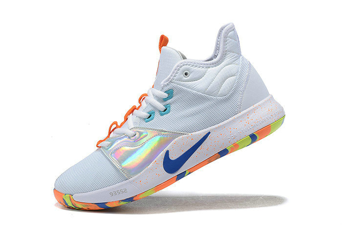 Where To Buy 2019 Nike PG 3 White Silver-Orange-Blue For Sale