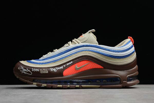 2019 Where To Buy Wholesale Cheap Eminem x Nike Air Max 97 OG QS Shady Records Khaki Borland Brown 884421-905