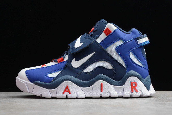 2019 Where To Buy Wholesale Cheap Nike Air Barrage Mid QS White Red-Blue CD9329-005