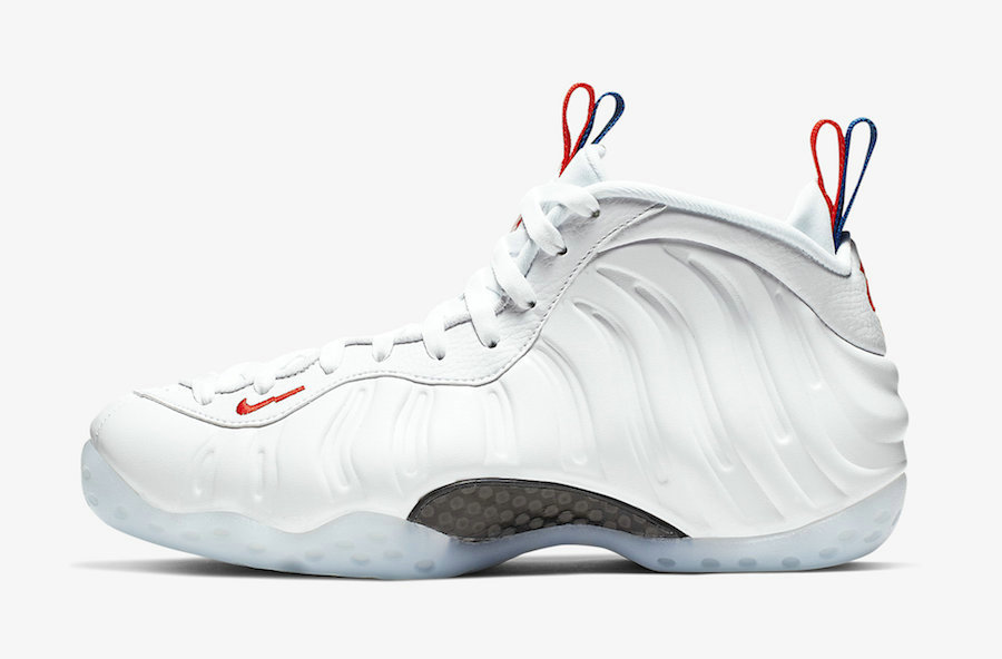2019 Where To Buy Wholesale Cheap Nike Air Foamposite One USA White-Game Royal-Habanero Red AA3963-102
