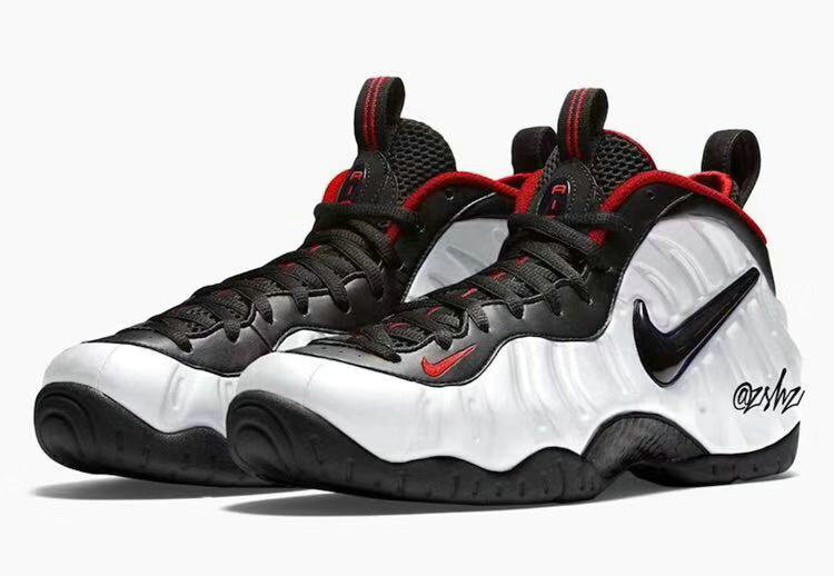 2019 Where To Buy Wholesale Cheap Nike Air Foamposite Pro White Black-University Red 624041-103