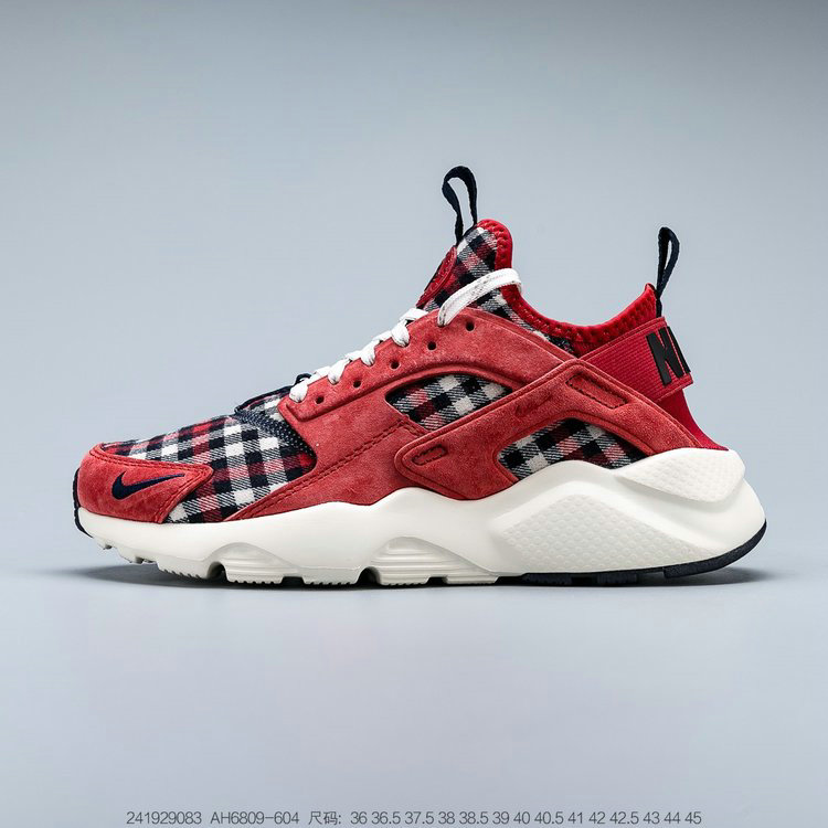 2019 Where To Buy Wholesale Cheap Nike Air Huarache Ultra Suede ID Red Blue White Rouge Bley Blanc AH6809-604