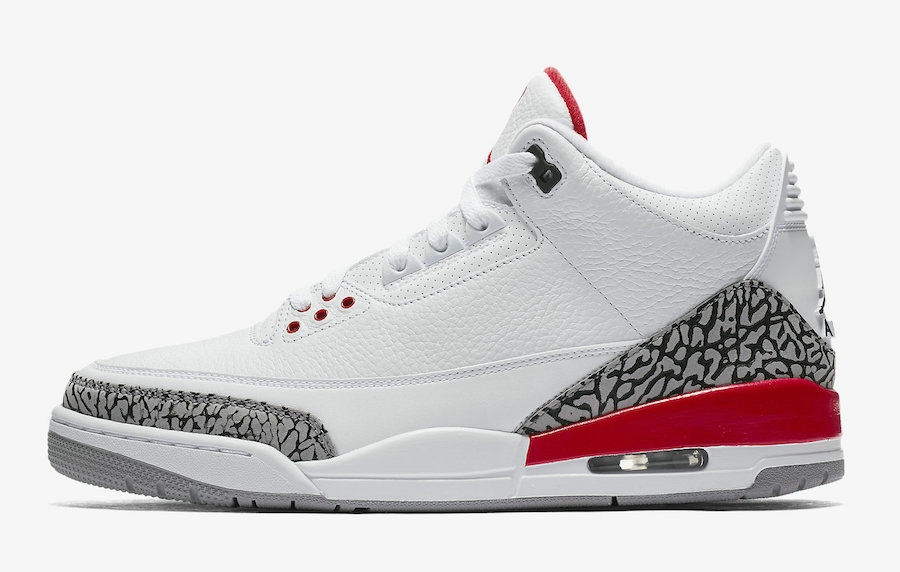 2019 Where To Buy Wholesale Cheap Nike Air Jordan 3 Katrina White Cement Grey Black-Fire Red 136064-116