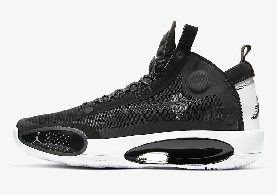 2019 Where To Buy Wholesale Cheap Nike Air Jordan 34 Eclipse Black White AR3240-001