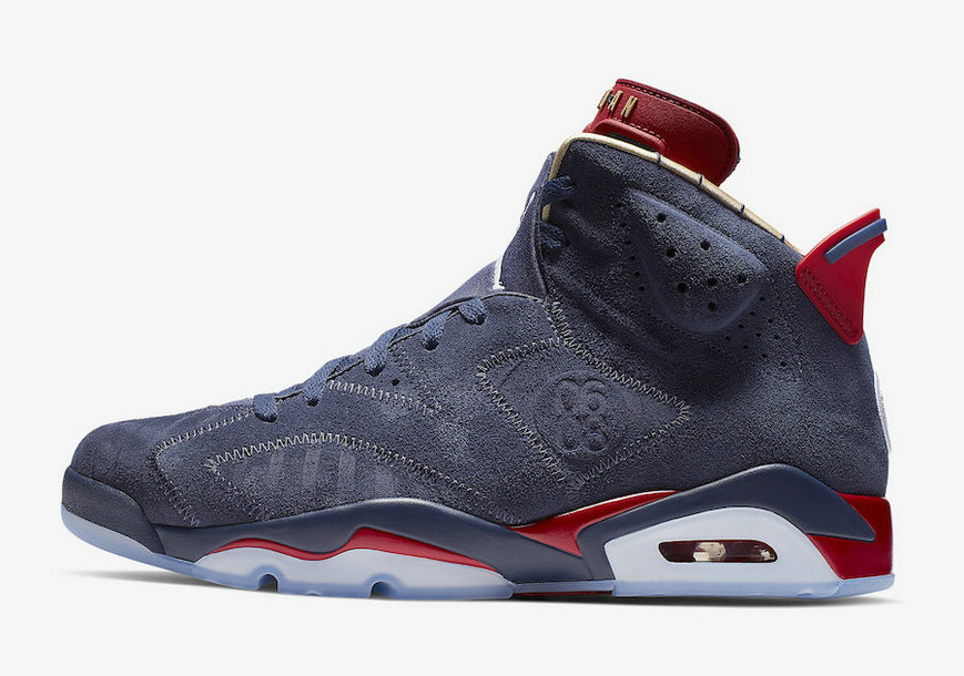 2019 Where To Buy Wholesale Cheap Nike Air Jordan 6 Doernbecher Navy White-Varsity Red-Metallic Gold CI6293-416