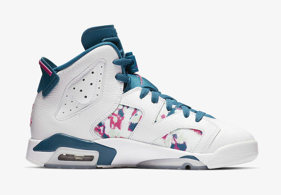 2019 Where To Buy Wholesale Cheap Nike Air Jordan 6 White Green Abyss-Laser Fuchsia 543390-153