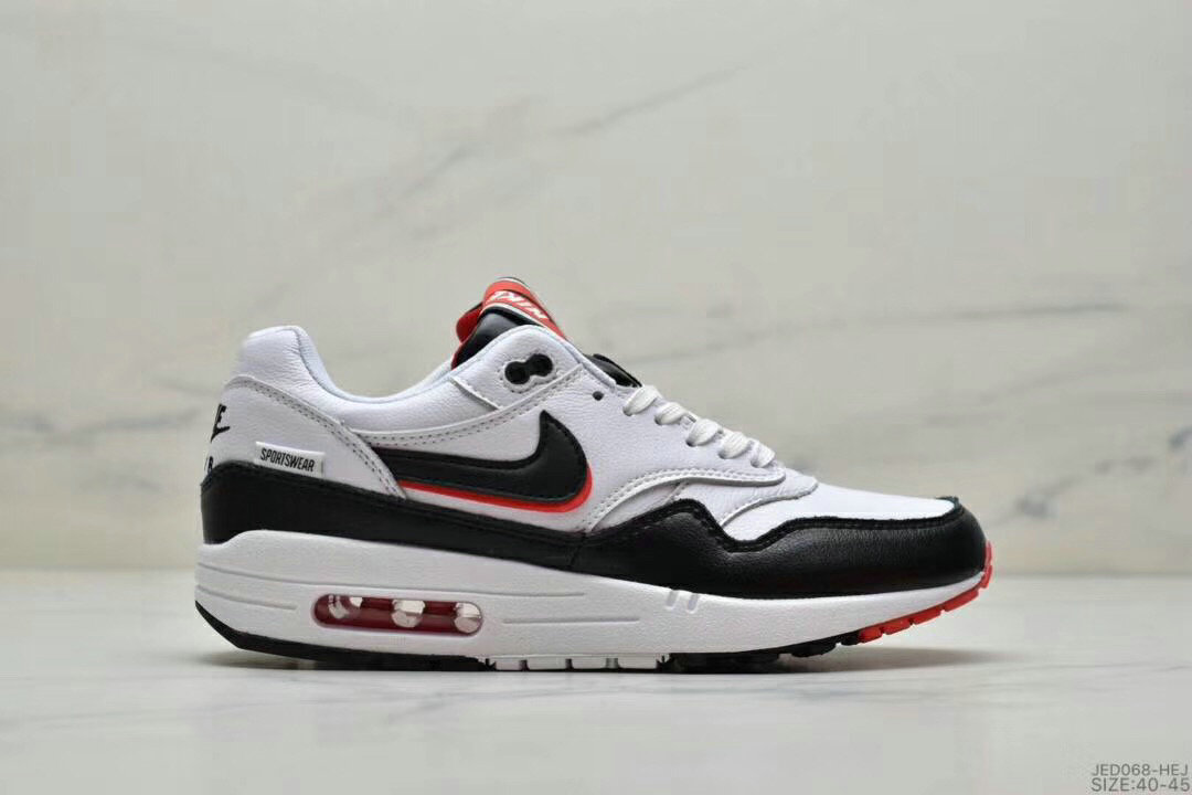 2019 Where To Buy Wholesale Cheap Nike Air Max 1 87 Black Red White