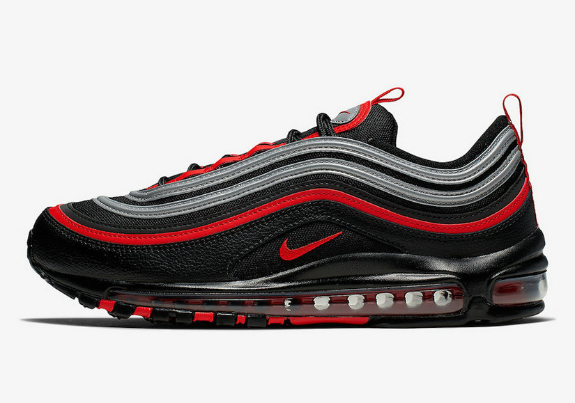 2019 Where To Buy Wholesale Cheap Nike Air Max 97 Black Metallic Silver-University Red 921826-014