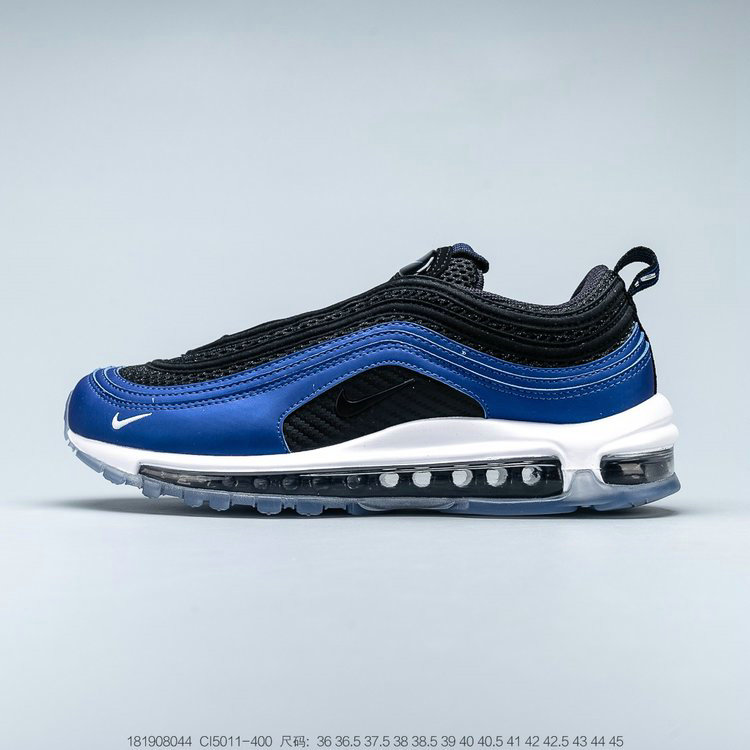 2019 Where To Buy Wholesale Cheap Nike Air Max 97 London Summer of Love Game Royal White Black Jeu Royal Noir Blanc CI5011-400