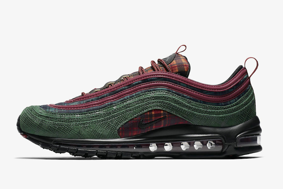 2019 Where To Buy Wholesale Cheap Nike Air Max 97 NRG Team Red Midnight Spruce AT6145-600
