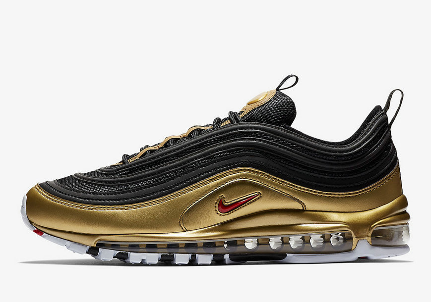 2019 Where To Buy Wholesale Cheap Nike Air Max 97 QS Black Varsity Red-Metallic Silver-White AT5458-001