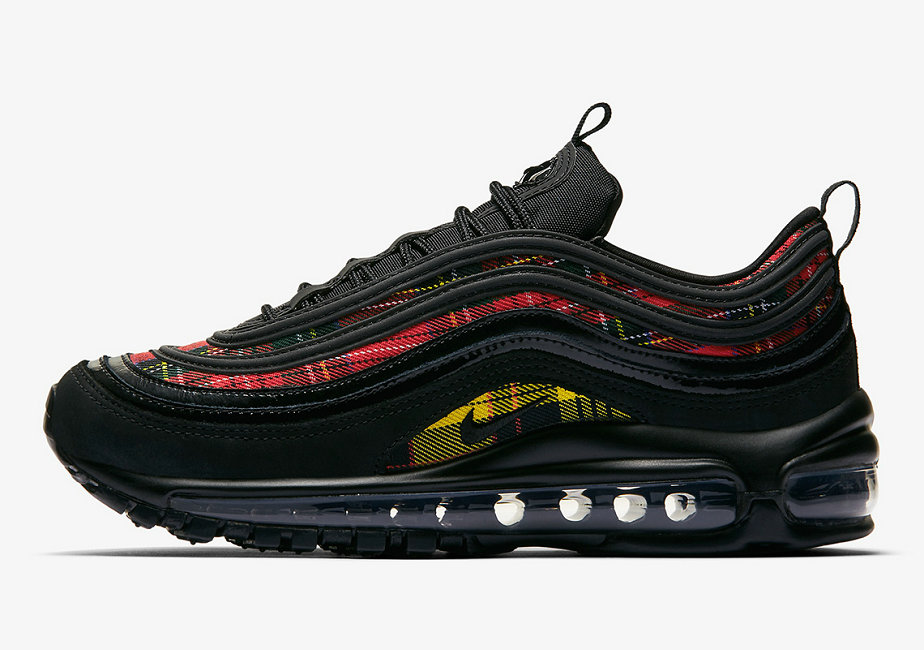2019 Where To Buy Wholesale Cheap Nike Air Max 97 SE Black-Black-University Red-Amarillo AV8220-001