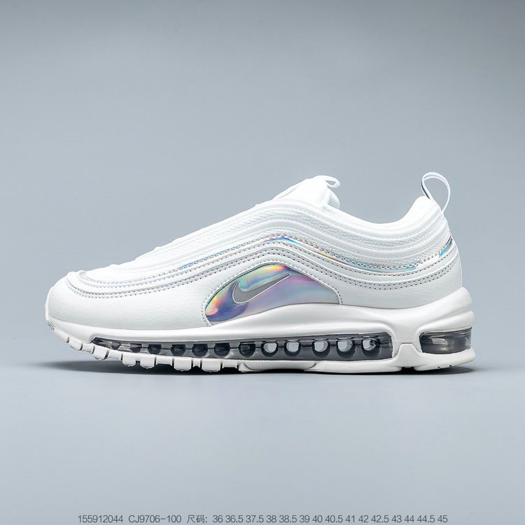 2019 Where To Buy Wholesale Cheap Nike Air Max 97 Summit White Metallic Silver Blanc Sommet Argent Metallique CJ9706-100