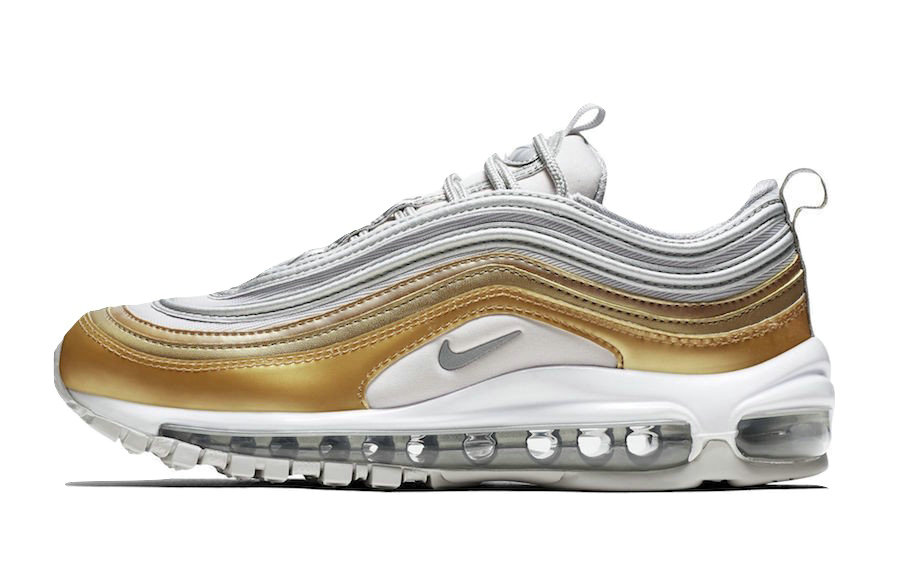 2019 Where To Buy Wholesale Cheap Nike Air Max 97 Vast Grey Metallic Silver-Metallic Gold AQ4137-001