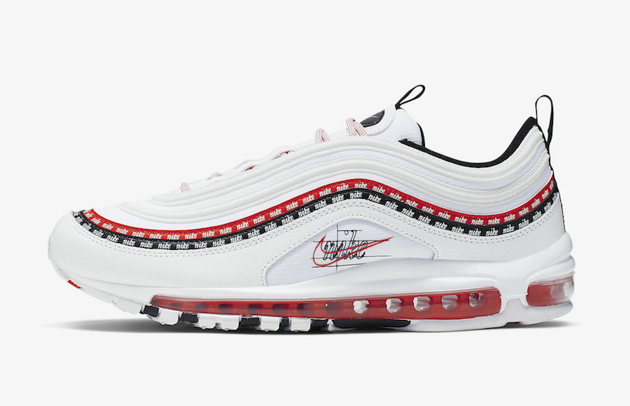 2019 Where To Buy Wholesale Cheap Nike Air Max 97 White Black-University Red CK9397-100