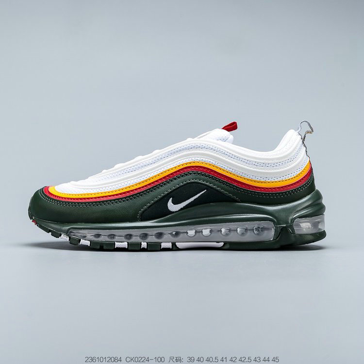 2019 Where To Buy Wholesale Cheap Nike Air Max 97 White Dynamic Yellow Evergreen Blanc Jaune Dinamique CK0224-100