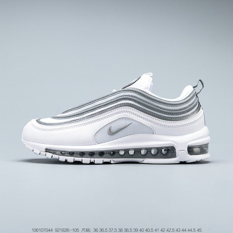 2019 Where To Buy Wholesale Cheap Nike Air Max 97 White Reflect Silver Wolf Grey Blanc Gris Loup Reflet Argent 921826-105