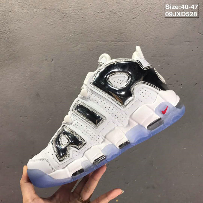 2019 Where To Buy Wholesale Cheap Nike Air More Uptempo Metallic Silver White