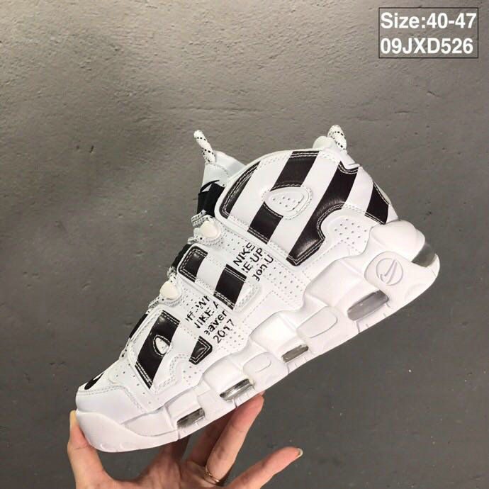 2019 Where To Buy Wholesale Cheap Nike Air More Uptempo OFF-WHITE Black White