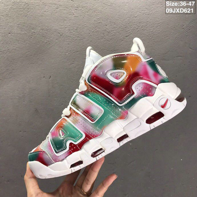 2019 Where To Buy Wholesale Cheap Nike Air More Uptempo UK Yellow Speed Red Green-White AV3809-700
