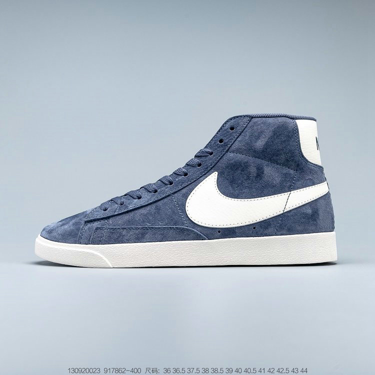 2019 Where To Buy Wholesale Cheap Nike Blazer Mid Vintage Suede Diffused Blue Sail 917862-400