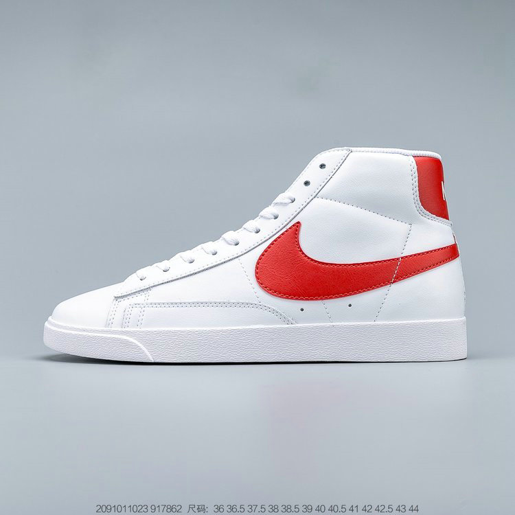 2019 Where To Buy Wholesale Cheap Nike Blazer Mid Vintage Suede White Habanero Red 917862-109