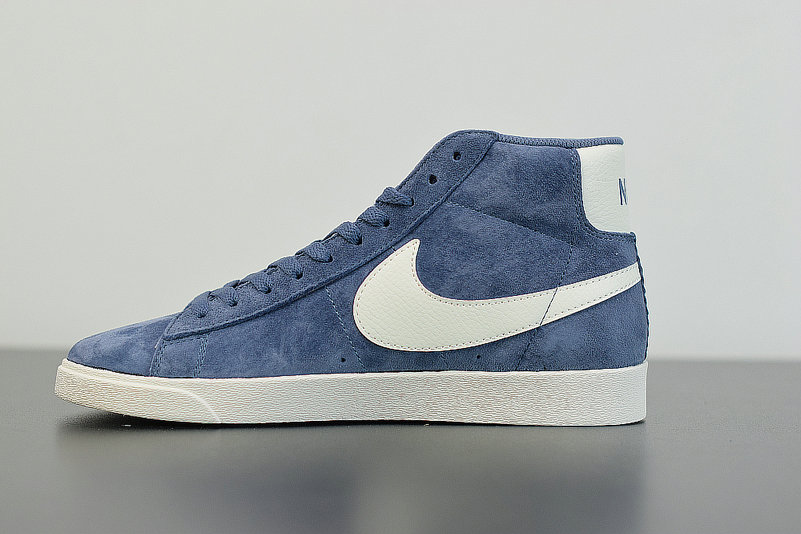 2019 Where To Buy Wholesale Cheap Nike Blazer Mid Vntg Suede Diffused Blue Sail Bleu Voile 917862-400