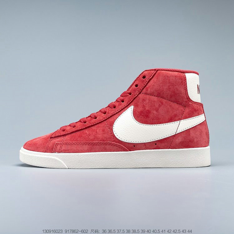 2019 Where To Buy Wholesale Cheap Nike Blazer Mid Vntg Suede Speed Red Sail Sail Black 917862-602